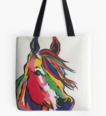 Angie's rainbow horse! Tote Bag
