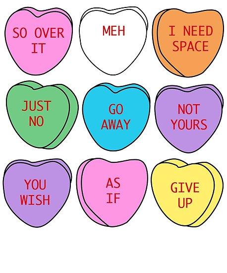 Anti Valentinstag Negative Gesprach Herzen So Uber Es Grafik Tee