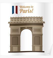 Paris Travel. Famous Place - Arc of Triomphe Poster