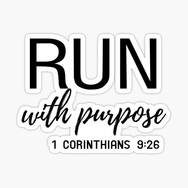 Run with purpose Sticker