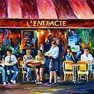 «CAFÉ EN PARÍS - Leonid Afremov» de Leonid Afremov