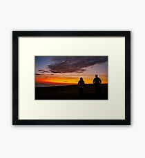 Witnessing a Donegal Sunset Framed Print