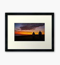 Witnessing a Donegal Sunset Framed Print