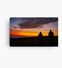 Witnessing a Donegal Sunset Canvas Print