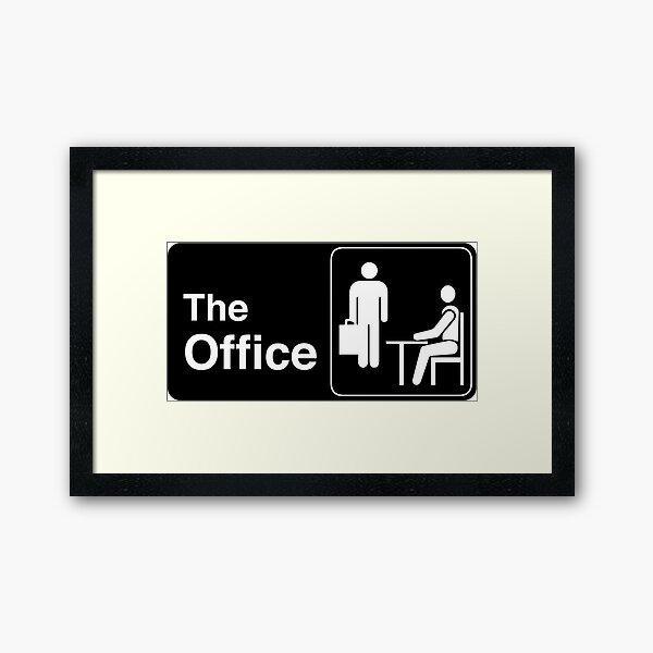 The Office TV Show Logo Framed Art Print