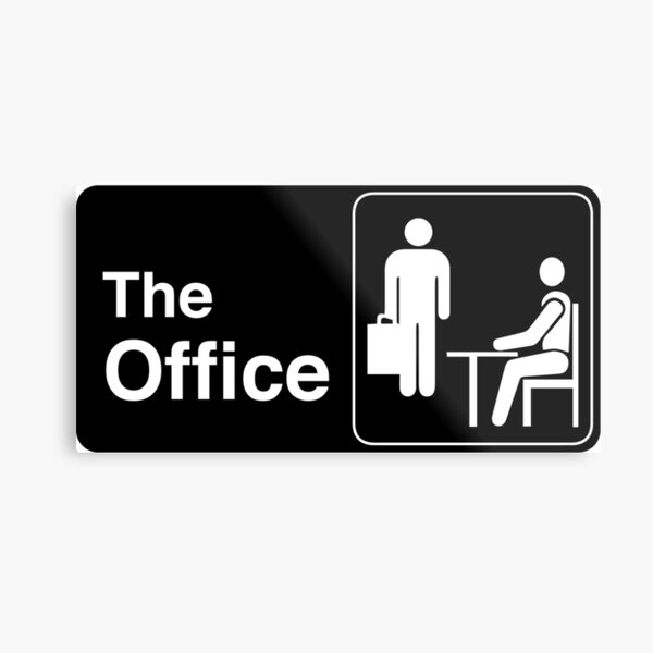 The Office TV Show Logo Metal Print
