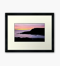 Sunset at Beefan Mountain - Glencolmcille, Ireland Framed Print