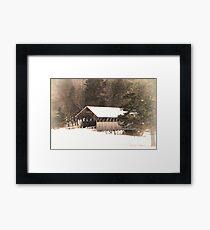 New England Winter ~ Covered Bridge Framed Print