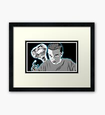 Stranger Things ET sci fi movie art Framed Print