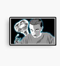 Stranger Things ET sci fi movie art Canvas Print
