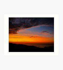 Sunset over the Atlantic - Glencolmcille, Ireland Art Print
