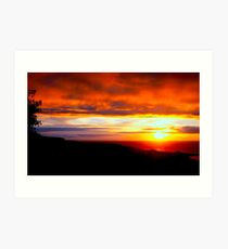 Sunset  - Glencolmcille, Ireland Art Print