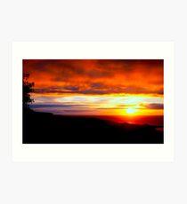 Sunset  - Glencolmcille, Ireland Art Print