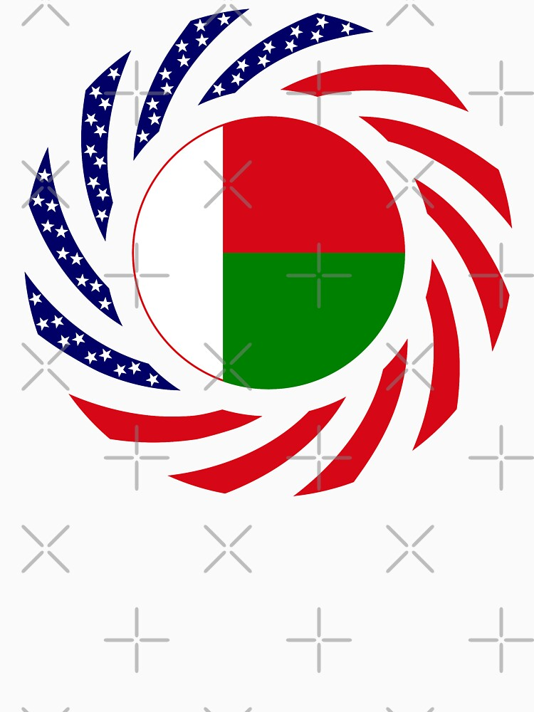 Madagascan American Multinational Patriot Flag Series by carbonfibreme