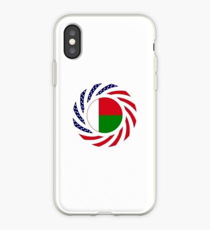 Madagascan American Multinational Patriot Flag Series iPhone Case