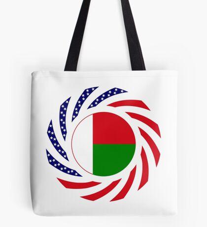 Madagascan American Multinational Patriot Flag Series Tote Bag