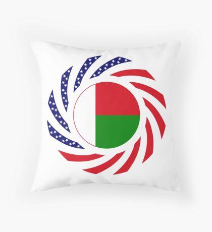 Madagascan American Multinational Patriot Flag Series Throw Pillow