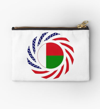 Madagascan American Multinational Patriot Flag Series Zipper Pouch