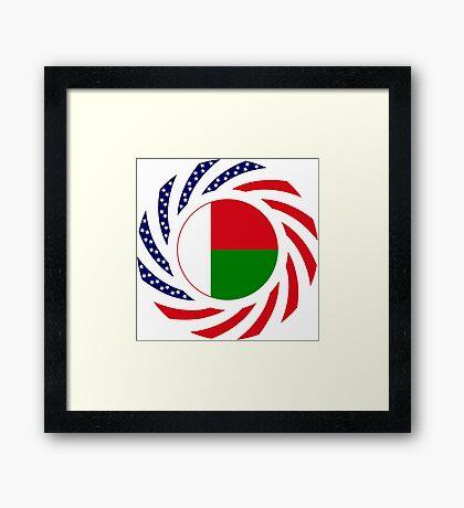 Madagascan American Multinational Patriot Flag Series Framed Print