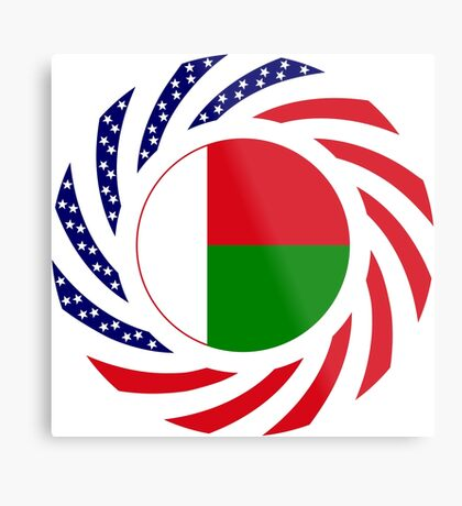 Madagascan American Multinational Patriot Flag Series Metal Print