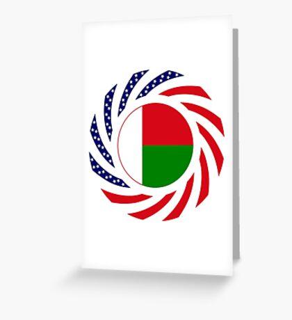 Madagascan American Multinational Patriot Flag Series Greeting Card