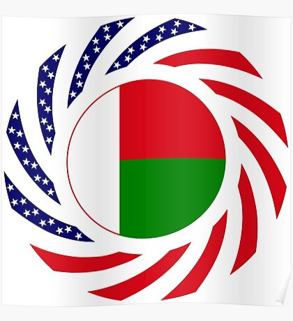 Madagascan American Multinational Patriot Flag Series Poster