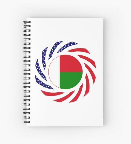 Madagascan American Multinational Patriot Flag Series Spiral Notebook