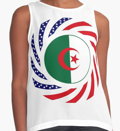 Algerian American Multinational Patriot Flag Sleeveless Top