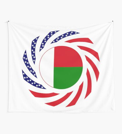 Madagascan American Multinational Patriot Flag Series Wall Tapestry