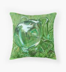 Green Swazifantje Throw Pillow