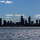 Perth Skyline in silhouette by DPalmer