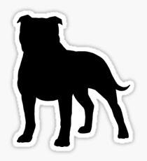 Staffordshire Bull Terrier Silhouette(s) Sticker