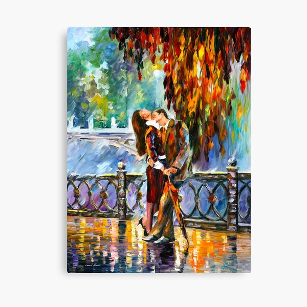 KISS AFTER THE RAIN - Leonid Afremov Canvas Print