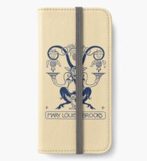 Mary Louise Brooks Bookplate iPhone Wallet/Case/Skin