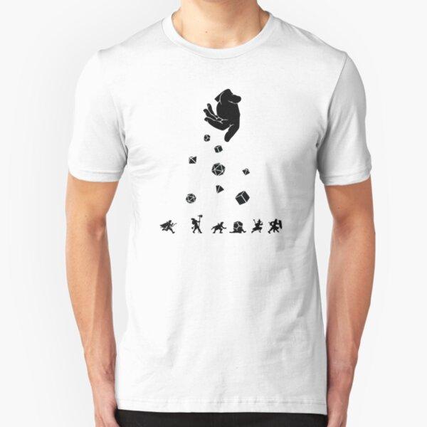 Rocks Fall, Everyone Dice Slim Fit T-Shirt