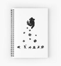 Cuaderno de espiral Las rocas caen, todos los dados