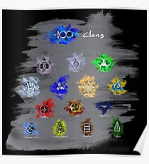 The 100 Clans (Dark) Poster