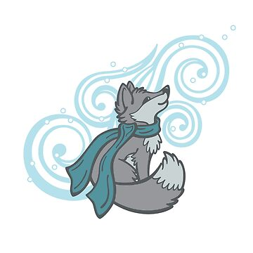 Swirling Snow Fox by CGafford