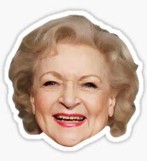 Betty White, America's Sweetheart Sticker