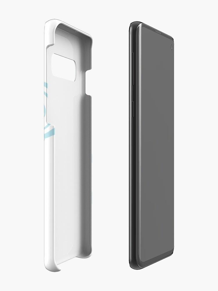 Alternate view of Swirling Snow Fox Case & Skin for Samsung Galaxy