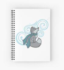 Swirling Snow Fox Spiral Notebook