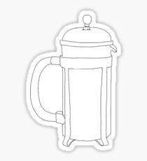 Cafetiere Sticker
