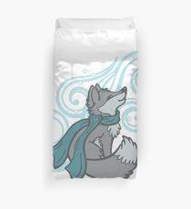 Swirling Snow Fox Duvet Cover