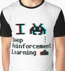 I heart deep reinforcement learning (8-bit 3D) Graphic T-Shirt
