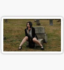 Gothic Graveyard Girl Sticker