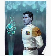 Blue alien genius Poster
