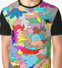 Cookie cutter animals - multi-coloured Graphic T-Shirt