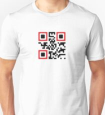 QR Code - Never Give Up Unisex T-Shirt
