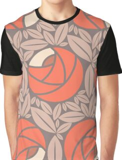 Pattern Art Deco with flowers Graphic T-Shirt