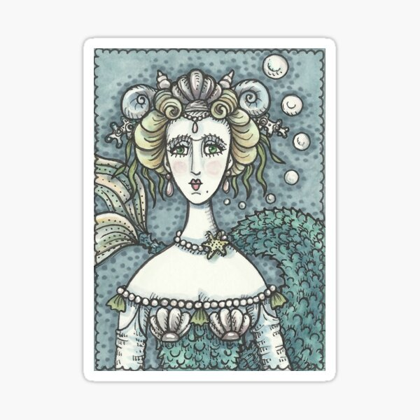 GOTH MERMAID NEPTUNES PARAMOUR Sticker